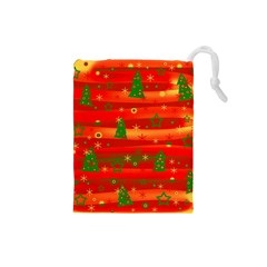 Christmas Magic Drawstring Pouches (small)  by Valentinaart
