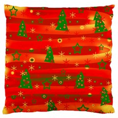 Christmas Magic Large Flano Cushion Case (one Side) by Valentinaart