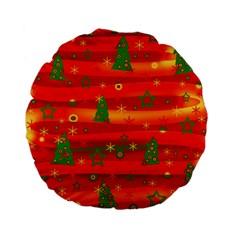 Christmas Magic Standard 15  Premium Flano Round Cushions by Valentinaart