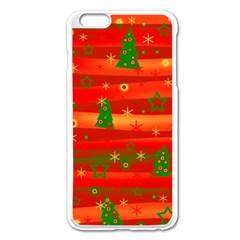 Christmas Magic Apple Iphone 6 Plus/6s Plus Enamel White Case by Valentinaart