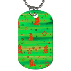 Xmas Magical Design Dog Tag (two Sides) by Valentinaart