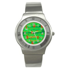 Xmas Magical Design Stainless Steel Watch by Valentinaart