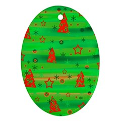 Xmas Magical Design Oval Ornament (two Sides) by Valentinaart