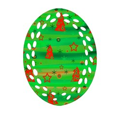 Xmas Magical Design Oval Filigree Ornament (2 Side)  by Valentinaart