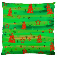 Xmas Magical Design Large Cushion Case (two Sides) by Valentinaart