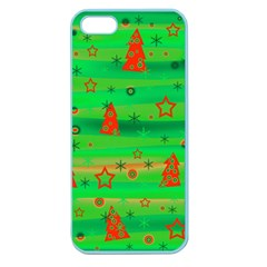 Xmas Magical Design Apple Seamless Iphone 5 Case (color) by Valentinaart