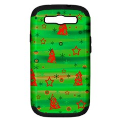 Xmas Magical Design Samsung Galaxy S Iii Hardshell Case (pc+silicone) by Valentinaart