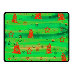 Xmas Magical Design Double Sided Fleece Blanket (small)  by Valentinaart
