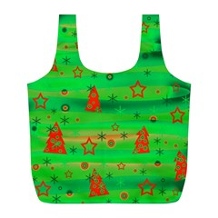 Xmas Magical Design Full Print Recycle Bags (l)  by Valentinaart