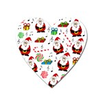 Xmas song Heart Magnet Front