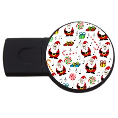 Xmas Song Usb Flash Drive Round (4 Gb)  by Valentinaart