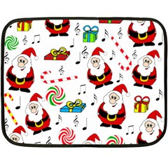 Xmas Song Fleece Blanket (mini) by Valentinaart