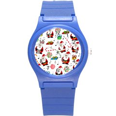 Xmas Song Round Plastic Sport Watch (s) by Valentinaart