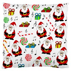 Xmas Song Large Flano Cushion Case (two Sides) by Valentinaart