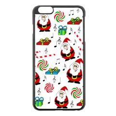 Xmas Song Apple Iphone 6 Plus/6s Plus Black Enamel Case by Valentinaart