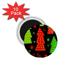 Merry Xmas 1 75  Magnets (10 Pack)  by Valentinaart