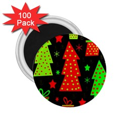 Merry Xmas 2 25  Magnets (100 Pack)  by Valentinaart