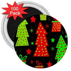 Merry Xmas 3  Magnets (100 Pack) by Valentinaart