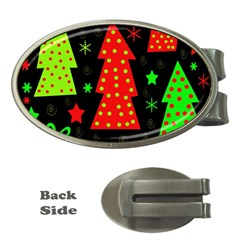 Merry Xmas Money Clips (oval)  by Valentinaart