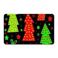 Merry Xmas Magnet (rectangular) by Valentinaart