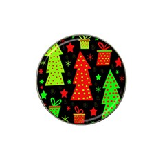 Merry Xmas Hat Clip Ball Marker (10 Pack) by Valentinaart