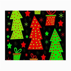 Merry Xmas Small Glasses Cloth (2 Side) by Valentinaart