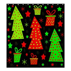 Merry Xmas Shower Curtain 66  X 72  (large)  by Valentinaart