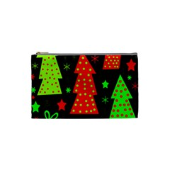 Merry Xmas Cosmetic Bag (small)  by Valentinaart