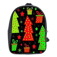 Merry Xmas School Bags(large)  by Valentinaart