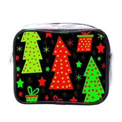 Merry Xmas Mini Toiletries Bags by Valentinaart