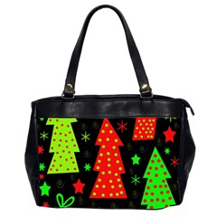 Merry Xmas Office Handbags (2 Sides)  by Valentinaart