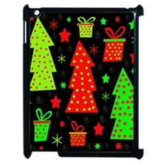 Merry Xmas Apple Ipad 2 Case (black) by Valentinaart