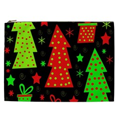 Merry Xmas Cosmetic Bag (xxl)  by Valentinaart