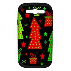 Merry Xmas Samsung Galaxy S Iii Hardshell Case (pc+silicone) by Valentinaart