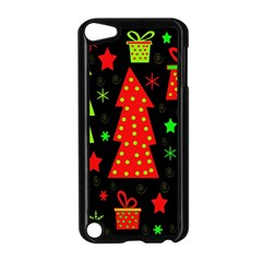 Merry Xmas Apple Ipod Touch 5 Case (black) by Valentinaart