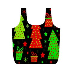 Merry Xmas Full Print Recycle Bags (m)  by Valentinaart