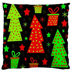 Merry Xmas Large Flano Cushion Case (two Sides) by Valentinaart