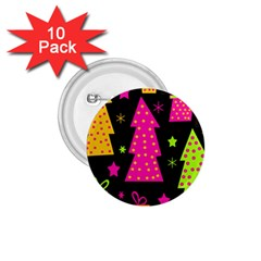 Colorful Xmas 1 75  Buttons (10 Pack) by Valentinaart
