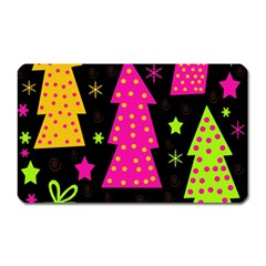 Colorful Xmas Magnet (rectangular) by Valentinaart