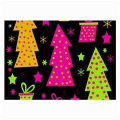 Colorful Xmas Large Glasses Cloth (2 Side) by Valentinaart