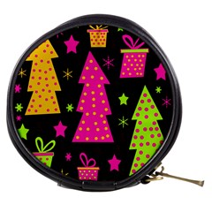 Colorful Xmas Mini Makeup Bags by Valentinaart