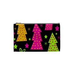Colorful Xmas Cosmetic Bag (small)  by Valentinaart