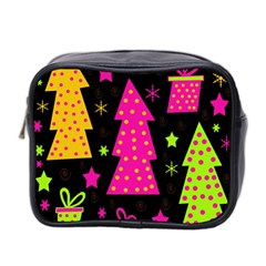 Colorful Xmas Mini Toiletries Bag 2-Side