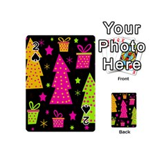 Colorful Xmas Playing Cards 54 (mini)  by Valentinaart