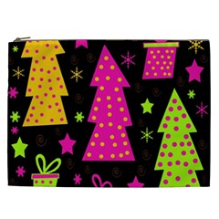 Colorful Xmas Cosmetic Bag (xxl)  by Valentinaart