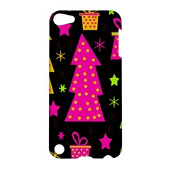 Colorful Xmas Apple Ipod Touch 5 Hardshell Case by Valentinaart