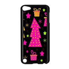 Colorful Xmas Apple Ipod Touch 5 Case (black) by Valentinaart