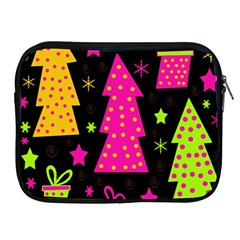 Colorful Xmas Apple Ipad 2/3/4 Zipper Cases by Valentinaart