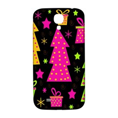 Colorful Xmas Samsung Galaxy S4 I9500/i9505  Hardshell Back Case by Valentinaart