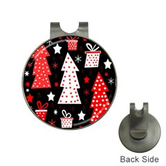Red Playful Xmas Hat Clips With Golf Markers by Valentinaart